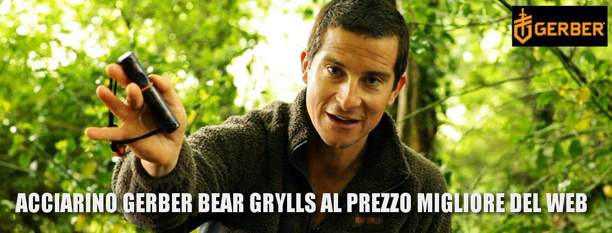 Acciarino Gerber Bear Grylls Survival Series Fire Starter al prezzo più basso del web. Miglior acciarino.