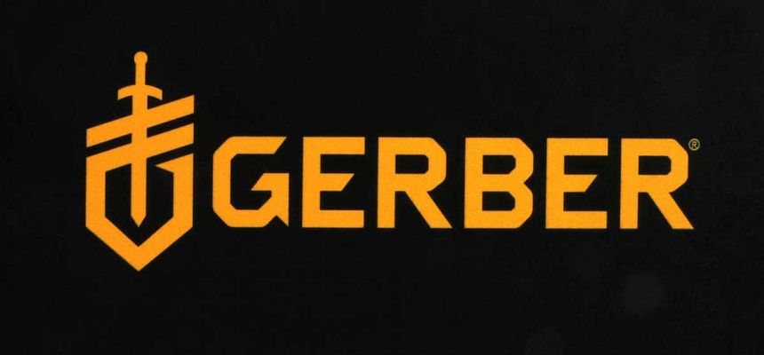 Il logo dell'americana Gerber, produttrice di coltelli a lama fissa e pieghevoli, survival, tattici e militari, inclusa la linea firmata da Bear Grylls