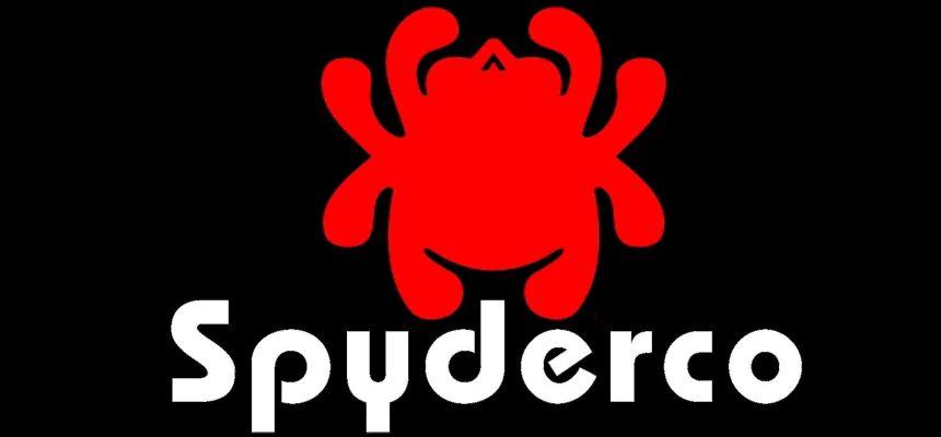 """Il logo Spyderco, casa americana con sede a Golden, in Colorado, produttrice dei famosissimi coltelli a serramanico dall'inconfondibile """"lama col buco"""""""