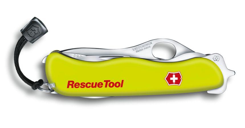 """13 funzioni racchiuse in un coltellino estremamente compatto: ecco come si presenta il Victorinox Rescue Tool con tutti gli accessori """"a riposo""""."""