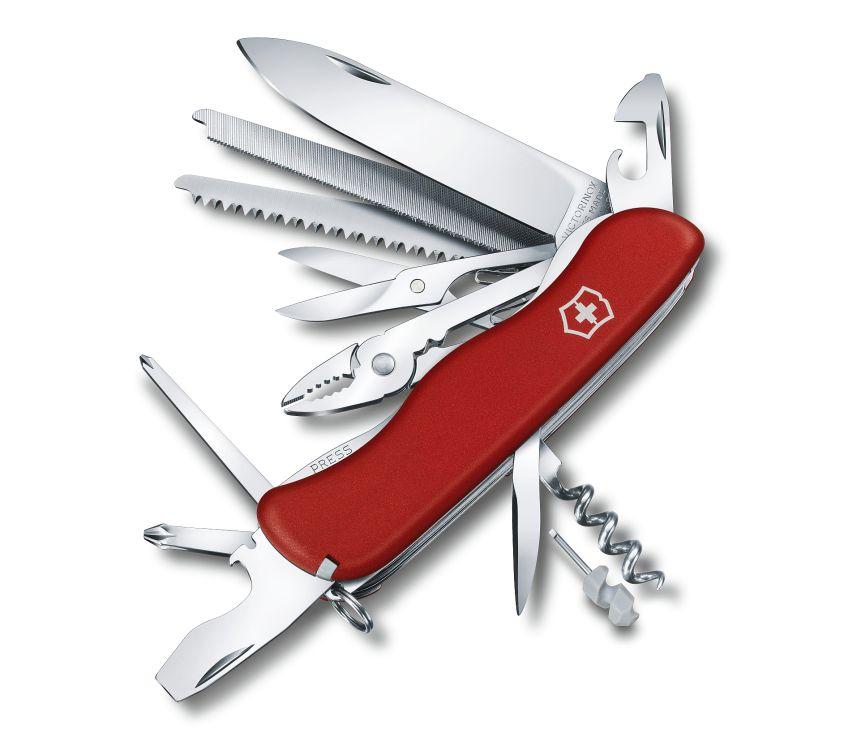 Coltellino svizzero multiuso Victorinox Work Champ rosso con 21 funzioni