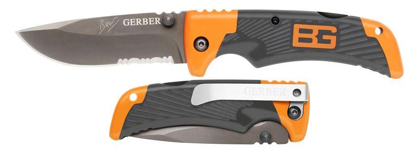 Il coltello pieghevole Bear Grylls GERBER Scout a confronto in posizione aperta e serrata