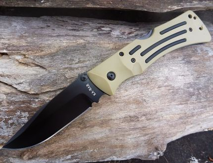 Coltello a Serramanico KA-BAR Desert Mule Folder Serrated