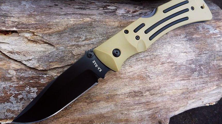 Desert Mule Folder, coltello a serramanico a lama parzialmente seghettata di KA-BAR