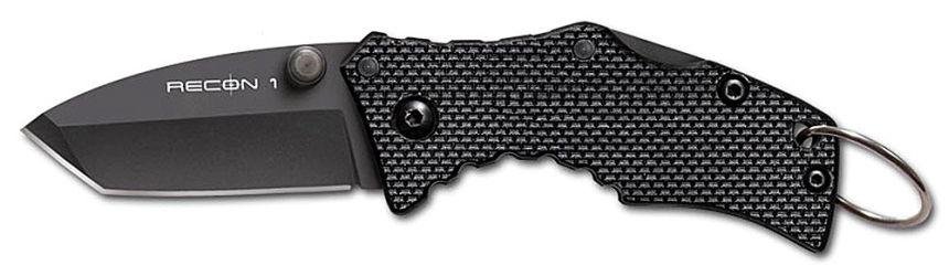 Coltello a Serramanico tascabile Cold Steel Micro Recon 1 Tanto con lama in acciaio giapponese AUS-8A