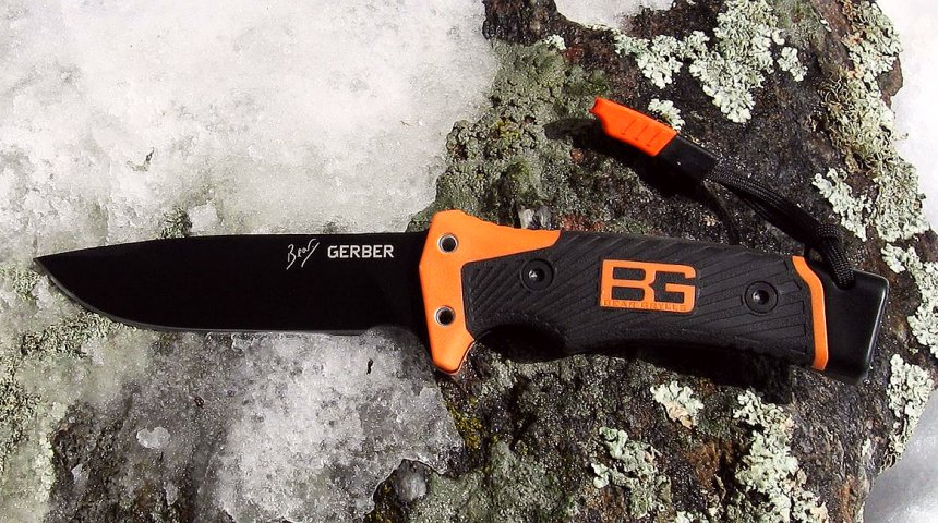 Il coltello Gerber Ultimate Pro firmato da Bear Grylls è a suo agio anche negli ambienti più impervi