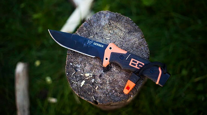 Un altro eccellente coltello survival super accessoriato: Gerber Ultimate Pro firmato Bear Grylls