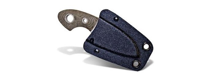 Il coltello Böker Plus Gnome al sicuro nel fodero in Kydex