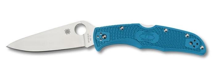 Coltello tascabile a serramanico Spyderco Endura 4 C10FPBL Blu