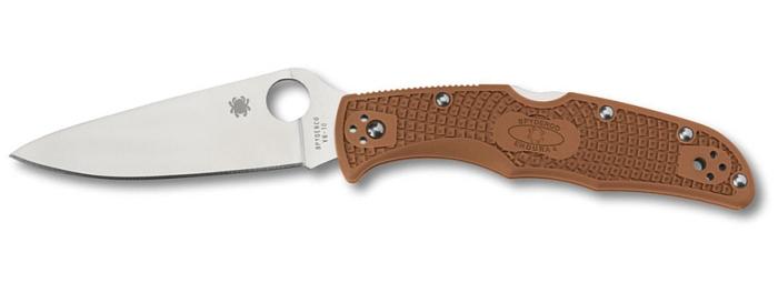 Coltello tascabile a serramanico Spyderco Endura 4 C10FPBN Marrone