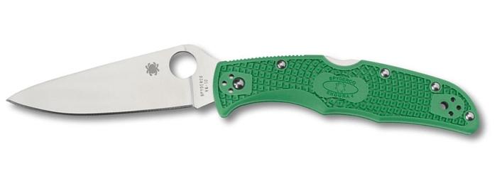 Coltello tascabile a serramanico Spyderco Endura 4 C10FPGR Verde