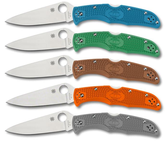 Coltelli a serramamico Spyderco Endura 4 serie C10: ben cinque colorazioni a confronto, scegli la tua