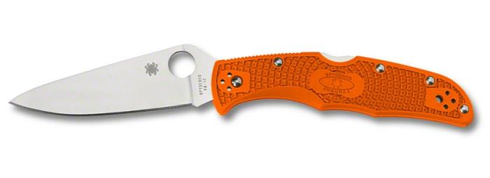 Coltello a serramanico Spyderco Endura 4 C10FPOR con lama in acciaio giapponese VG-10 e guancette arancioni
