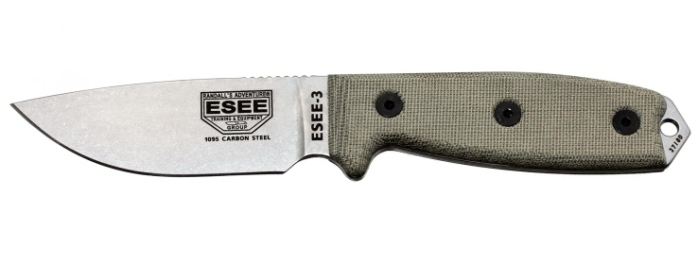 Coltello Survival ESEE-3P-UC-MB con lama scoperta