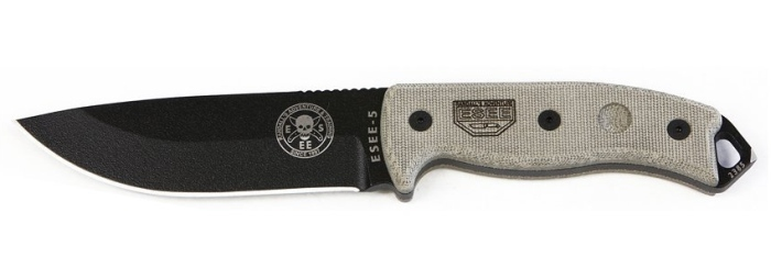 Coltello Survival ESEE-5P Randall's Adventure con lama a filo piano