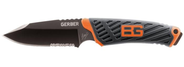 Il coltello Bear Grylls Gerber Compact con lama parzialmente seghettata