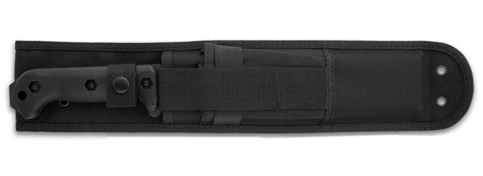 Il coltello militare KA-BAR BK9 Becker Combat Bowie al sicuro nel fodero in nylon balistico