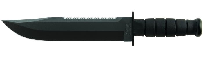 """Il KA-BAR 2211 Big Brother nella versione """"modernizzata"""" con impugnatura nera in Kraton G"""