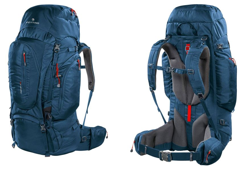Garanzia di qualità: zaino da escursionismo e alpinismo Ferrino Transalp in tessuto Jacquard Weave 500D, disponibile in versioni da 60, 80 e 100 litri
